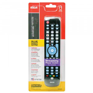 RCA Universal Remote Control for 6 Devices with Streaming and Learning Functions