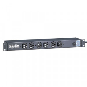 TRIPPLITE 1U Rack-Mount Power Strip 12 Outlets 120v 15a