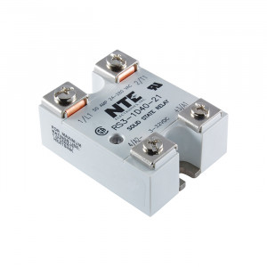 NTE Solid State Relay 3-32VDC Input/24-280VAC 40A with LED Status