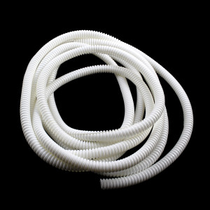 "VANCO Split Loom Tubing 1/4"" White 10ft"