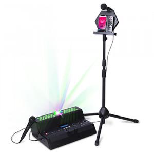 AUDIOVOX MAIN STAGE All-in-One Party System + Wireless Speaker with Bluetooth, Stand, Two Microphone