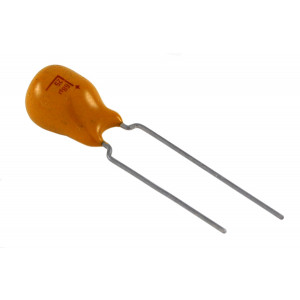 NTE 1µF 50V Solid Tantalum Capacitor Radial Leads