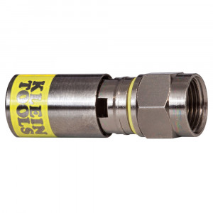 Klein F Compression Connector - RG6/6Q (50-Pack)