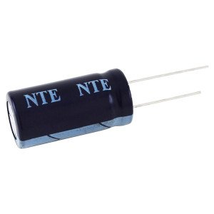 NTE 820µF 25V High Temp Aluminum Electrolytic Capacitor Radial Leads