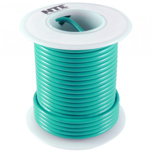NTE Hook-up Wire 18 AWG Stranded 25ft Green
