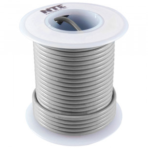 NTE Hook-up Wire 18 AWG Stranded 25ft Gray