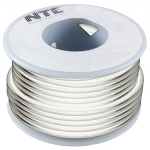 NTE Hook-up Wire 18 AWG Stranded 100ft White