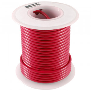 NTE Hook-up Wire 22 AWG Solid 25ft Red