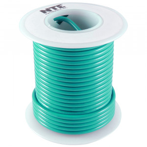 NTE Hook-up Wire 26 AWG Solid 25ft Green
