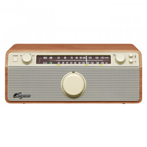 SANGEAN AM/FM/AUX-In Analog Wooden Cabinet Receiver