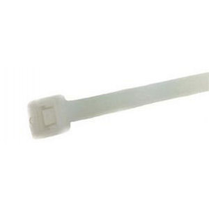 "SR Cable Ties 8"" 50lb Natural 100pcs"