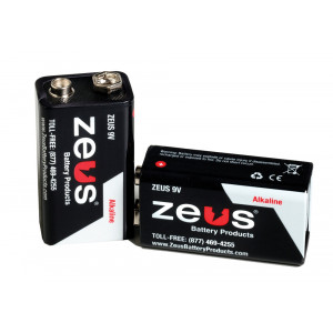 ZEUS Alkaline 9v Battery 10pk