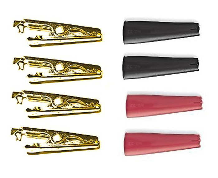 MUELLER Solid Copper Mini-Alligator Clip 4 pack with Boots