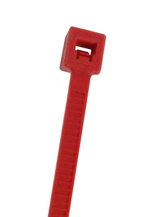"""NTE Cable Ties 5.84"""" 40# Red 100pk"""