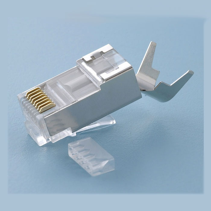 PLATINUM RJ45 CAT6A 10Gig Shielded Connector with Liner, Solid - 50 Pack