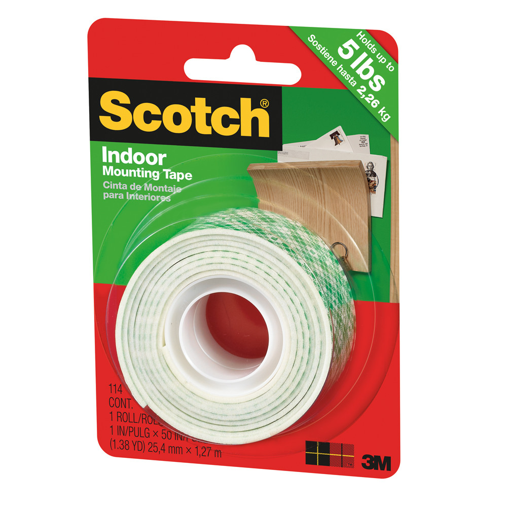 """3M Indoor Mounting Tape 1"""" x 50"""""""