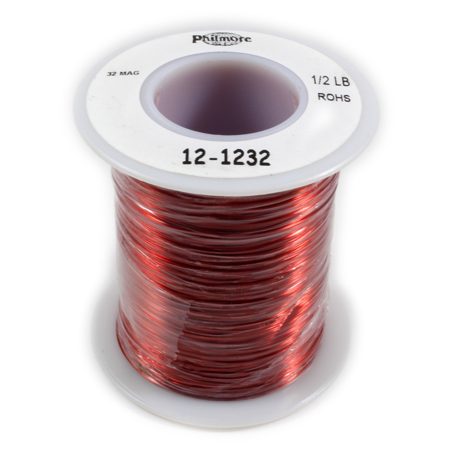 PHILMORE Magnet Wire 32g 1/2 Pound Spool 2510ft