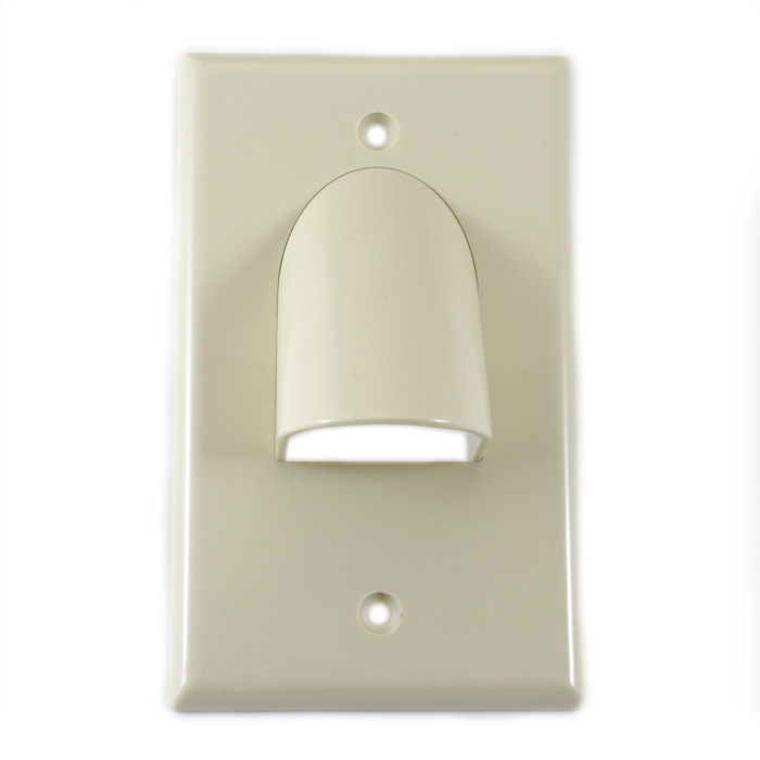 VANCO Custom Two-Piece Reversible Bulk Cable Wall Plate White
