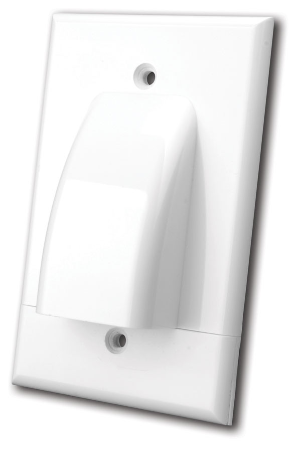 VANCO White Dual Gang Two-Piece Bulk Cable Plate