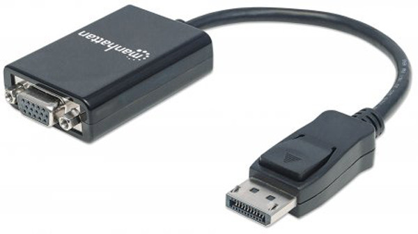 MANHATTAN DisplayPort Male to VGA Female Converter Cable 6""