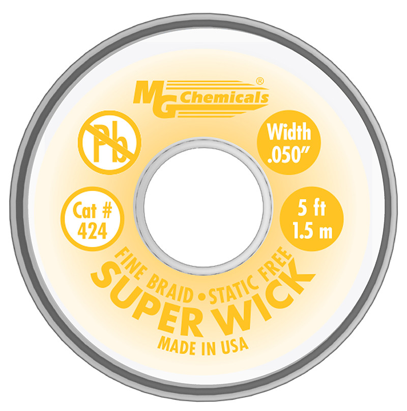 MG CHEMICALS Super Wick .05 #2 Yellow 5ft