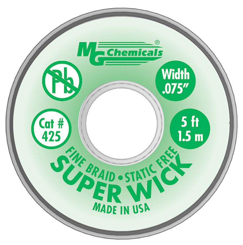 MG CHEMICALS Super Wick .075 #3 Green 5ft
