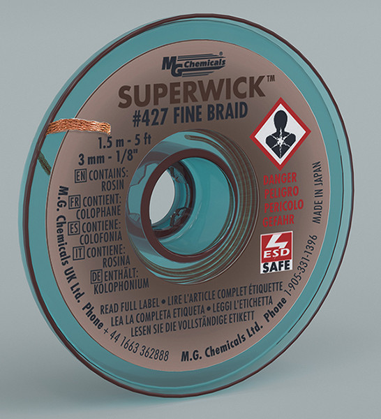 MG CHEMICALS Super Wick .125 #5 Brown 5ft
