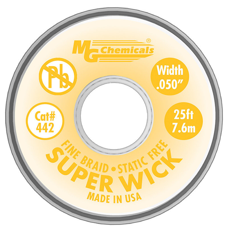 MG CHEMICALS Super Wick .05 #2 Yellow 25ft