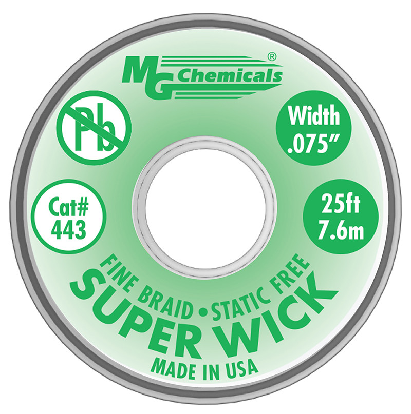 MG CHEMICALS Super Wick .075 #3 Green 25ft