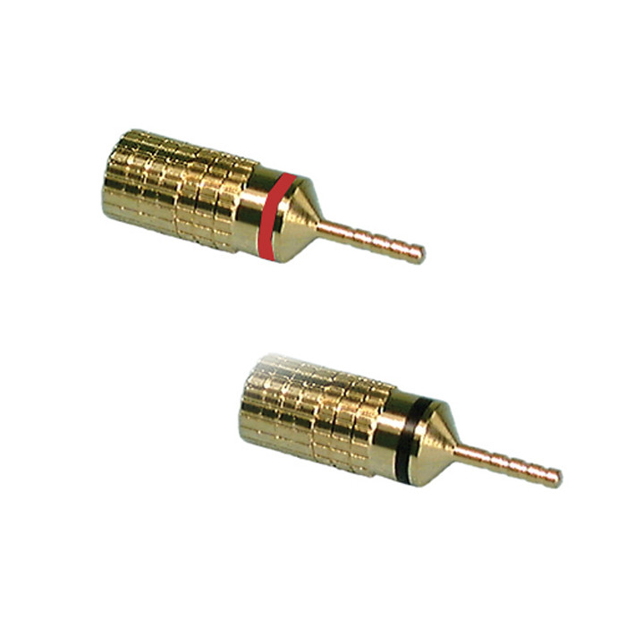 PHILMORE Gold Pin Plugs 2 pk