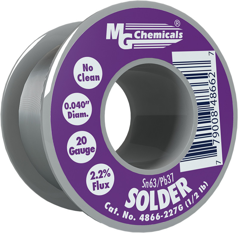 MG CHEMICALS Sn63 / Pb37 Leaded Solder .025