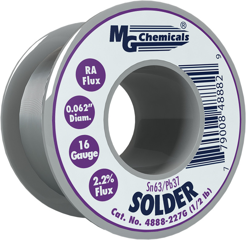 MG CHEMICALS Sn63 / Pb37 Leaded Solder .062