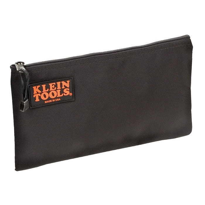 KLEIN Black Nylon Zipper Bag