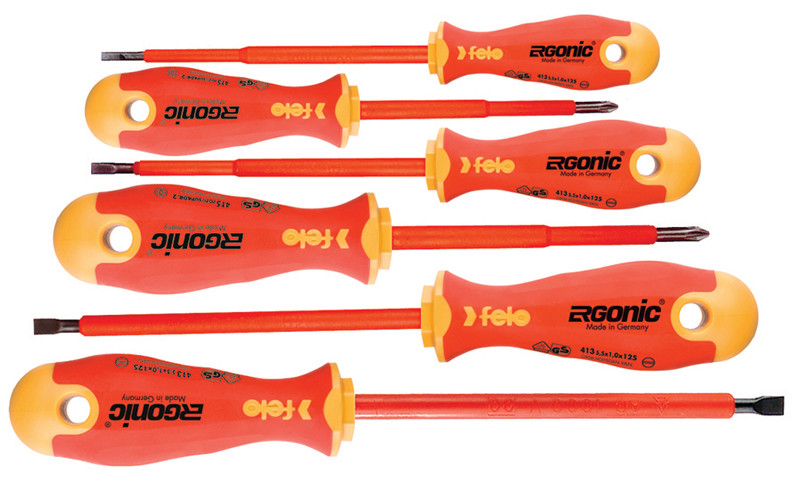 FELO Ergonic Insulated 6 pc Set Slotted and Phillips