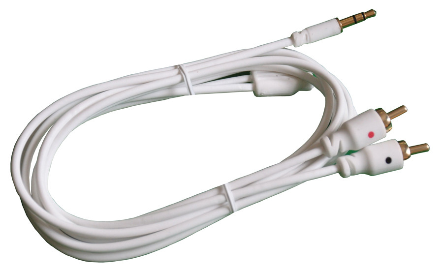 """PHILMORE 1/8"""" 3C Male to 2 RCA Male Y Cable 6ft"""