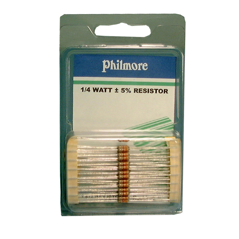 PHILMORE 470K Ohm 1/4 Watt Resistor 50 pack