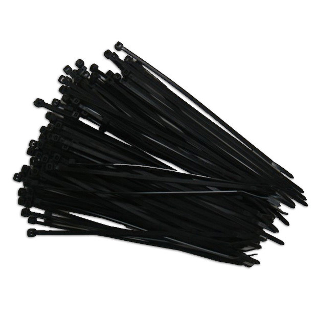"Eclipse Cable Ties Black 5.5"" 100 pieces"