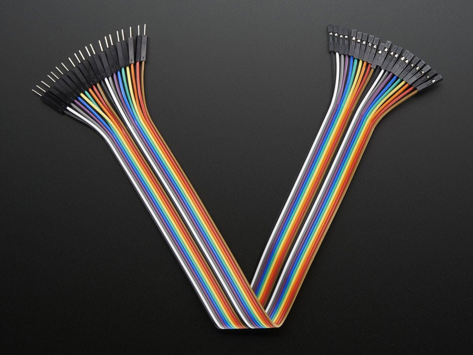 """ADAFRUIT Male to Female Jumper Wires 12"""" 20 pieces 28awg"""
