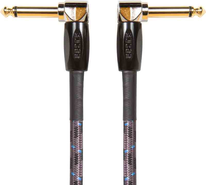 """BOSS 1/4"""" Instrument Cable Right Angle 1ft"""