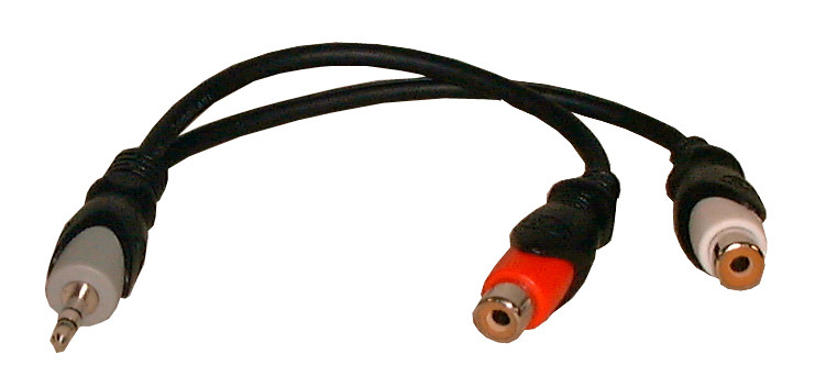 "PHILMORE 1/8"" Stereo Male to 2 RCA Female 'Y Cable"