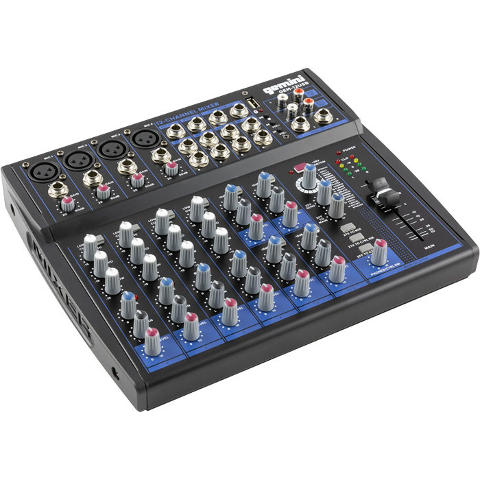 GEMINI 12 Channel USB Mixer with Bluetooth