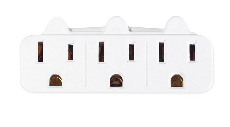 GO GREEN 3-Outlet Wall Tap White