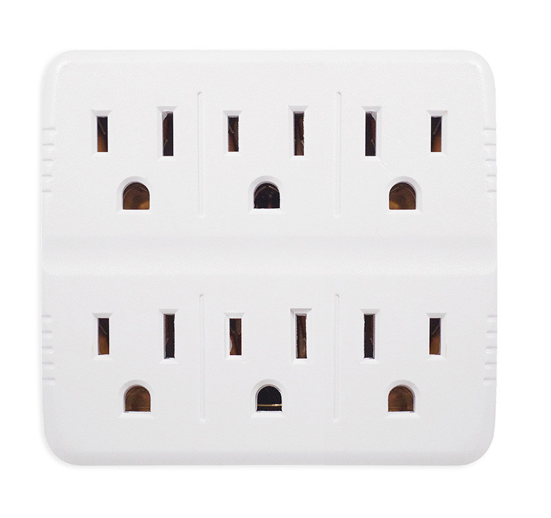 GO GREEN 6-Outlet Wall Tap White