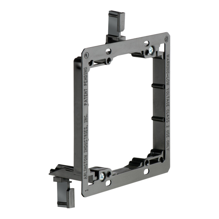 ARLINGTON Dual Gang Low Voltage Mounting Bracket for Existing Construction 5pk