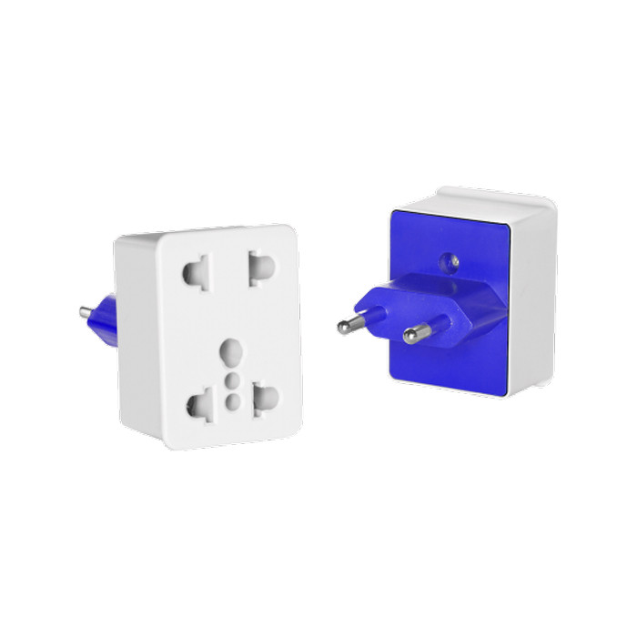 CONAIR Dual Outlet Adapter Plug Southern Europe, Parts of Asia & Africa