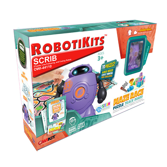 OWI Scrib Puzzle, Line Following and Coding Robot