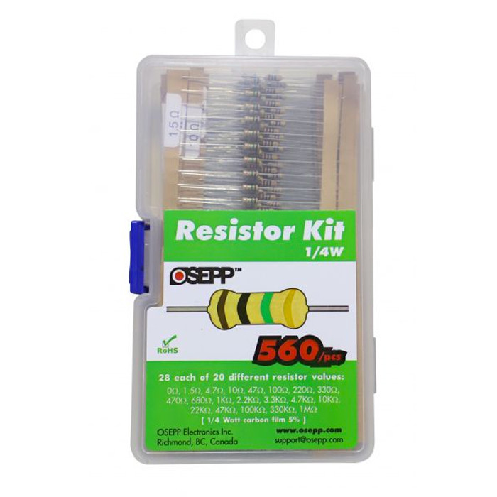 OSEPP Resistor Assortment 560pc