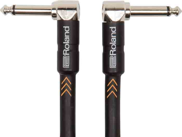"""ROLAND Instrument Cable 3ft Right Angled 1/4"""" Black Series"""