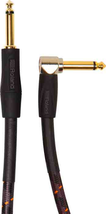 """ROLAND Instrument Cable 20ft Right Angled 1/4"""" Gold Series"""