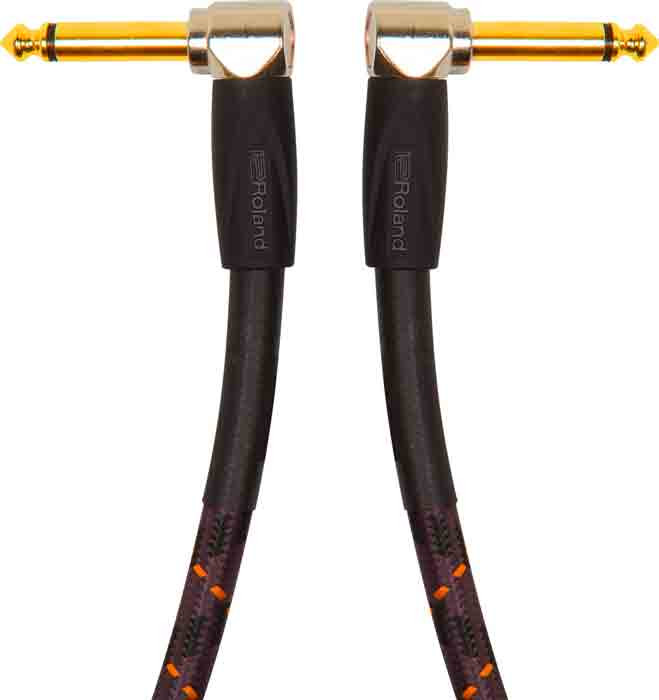 """ROLAND Instrument Cable 3ft Right Angled 1/4"""" Gold Series"""